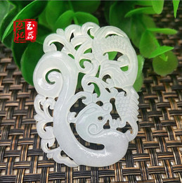 $enCountryForm.capitalKeyWord Australia - Natural White Jade Double-sided hollow Dragon Pendant Jadeite Necklace Charm Jewellery Accessories Hand-Carved Luck Amulet New
