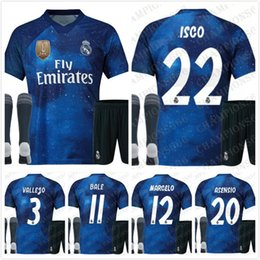 New 2018 2019 Real Madrid Adult kit soccer Jersey EA sports 18 19 MODRIC  ISCO RAMOS Asensio Kroos football Shirt Champions League uniform 69583ec2c