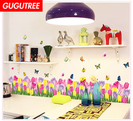 nursery flower decals Australia - Decorate Home flower buttlefly cartoon art wall sticker decoration Decals mural painting Removable Decor Wallpaper G-1845
