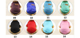 Product Brand Color Australia - Fashion Major Brand Multi-color Wool Sanitary Clothing Pet Clothing Pet Products Dog Clothing in Autumn and Winter
