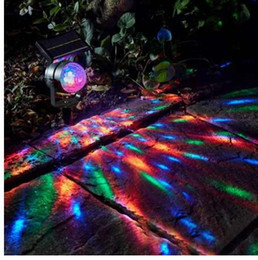 Outdoor Garden Tools Australia - New Solar Power Lamp LED Projector Light Colorful Rotating Solar Light Outdoor Garden Lawn Lamp Home Courtyard Decoration Tool