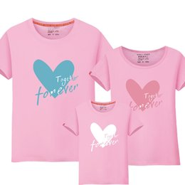 $enCountryForm.capitalKeyWord UK - 1 Piece Matching-mother-daughter-clothes Family T Shirt Heart Print Mommy Daughter Matching Family Matching Mom Daughter Clothes Y190523