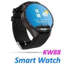 Smartwatch Gps Wifi Camera Australia - KW88 Smart Watch Android 5.1 OS MTK6580 CPU 1.39 inch Screen 2.0MP camera 3G WIFI GPS Heart Rate smartwatch for iphone Android smart phone