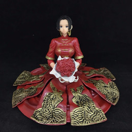 One Piece Figure Hancock Australia - NEW hot 10cm One Piece Boa Hancock kimono Flower married Stylist action figure toys collection doll Christmas gift with box