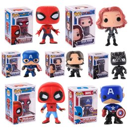 Figures Australia - FUNKO POP Justice Action Figures Avengers Super Hero Characters Model Vinyl Action Figures Novelty Items free shipping
