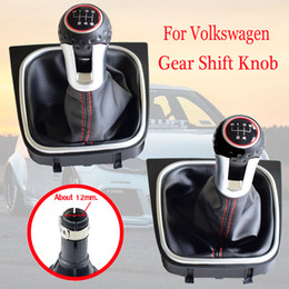 volkswagen vw golf Canada - 5 6 Speed Car Manual Gear Shift Shifter Knob HeadBall With Boots For Volkswagen VW Golf 6 MK6 GTI GTD R20 2009-2013