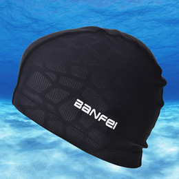 shark swim Australia - wimming Caps High Elasticity Waterproof Fabric Protect Ears Long Hair Sports Swim Pool Hat Shark Flexible Durable Swimming Cap for Men Wo...