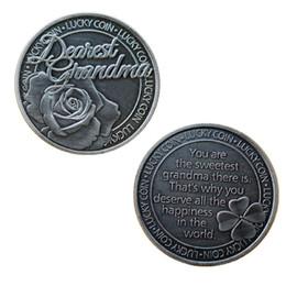 $enCountryForm.capitalKeyWord Australia - GLSY Dearest Grandma Lucky Commemorative Coin, Commemorative Coin Lucky Love Words Romance Couple Collection Art Gifts Souvenir