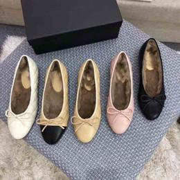 $enCountryForm.capitalKeyWord UK - Women's luxury ballet shoes, electric embroidery lingge grain warm ballet shoes, fomous rabbit hair ballet shoes,size:35-41