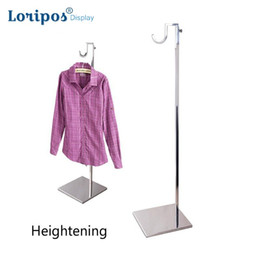 clothes display hooks UK - High-grade Stainless Steel Coat Rack Clothing Hanging Hook Shelf Bag Display Holder Handbag Display Floor Stand Coat Shelf Metal