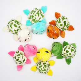 turtle plush pendants NZ - 2019 New Popular Beanie Boos Zippy the Green Turtle Keychain Clip Cinder Pendant Plush Toys Children Birthday Christmas Gifts