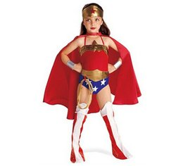$enCountryForm.capitalKeyWord Australia - Halloween Superman Wonder Woman Children Party Cosplay Costumes Gift For Girls Clothes Children's Clothing Set N1561 SH190908