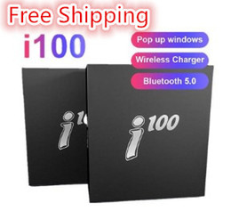 Free Shipping i100 tws bluetooth 5.0 wireless bluetooth headphones support pop up window Earphones colorful touch control i12 i7s i7mini