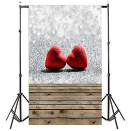 Background Prints Australia - 2019 new tapestry Valentine's Day Love Heart Photography Backdrop Vinyl Photo Background Prop Gift tapestry wall hanging
