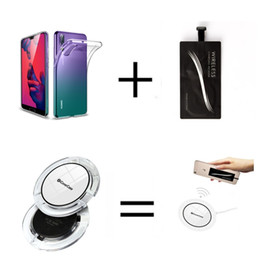 qi wireless charger receiver 2019 - Qi Wireless Charger For Huawei nova 5i Phone Charging Pad with Receiver Clear TPU Cover For Huawei Mate 30 Lite nova 5i