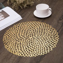 modern table placemats Australia - Placemats For Dining Table PVC Plastic Hollow Insulation Round Baroque Mediterranean Coaster Pads Table Bowl Mats Home Decor