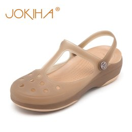 $enCountryForm.capitalKeyWord Australia - Summer Women Mules Clogs Beach Breathable Mary Janes Sweet Slippers Woman's Sandals Jelly Shoes Cute Garden Shoes Clog For