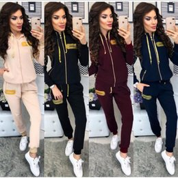 $enCountryForm.capitalKeyWord NZ - Women Tracksuits Spring Summer Sports Clothing Sets Short Stripes Sports Jackets Crop Pants 2pcs Suits Slim Fits Casual Outfits