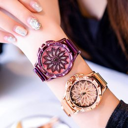 Hot  360 Degree Rotation Watch For Women Watches Starry Sky Magnet Fashion Casual Female Wristwatch Roman Numeral Relogio