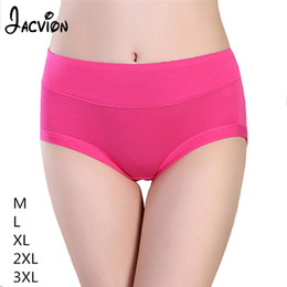 $enCountryForm.capitalKeyWord Australia - 3 Pieces Set Women Underwear Ladies Panties Bamboo Fiber Bige Size Soft Briefs Female Solid High-Rise Panty Women