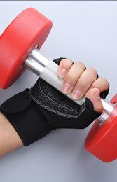 Leather Wrist Gloves Australia - Protective gloves for weight lifting and boxing in gym wear-resistant and skid-resistant Sports Wrist Gloves