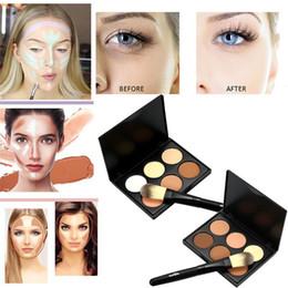 $enCountryForm.capitalKeyWord Australia - Factory DHL 6 Colors Cosmetic Concealer Cream MINI Face Highlighter Bronze Powder Camouflage Cream Contour Palette +1PC Quality Makeup Brush