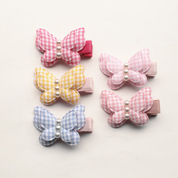 $enCountryForm.capitalKeyWord NZ - New Platid 20pcs  Lot Cartoon Girls Hair Clips Bestseller Butterfly Shape Barrettes With Pearls Double Layers Kids Animal Hairpin