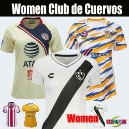 36809cad9 Women Jersey Mexico Club de Cuervos Soccer Jerseys Girl Lady 19 20 Home  White Club America Chivas Tigres Third Away Football Shirts