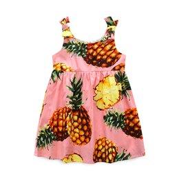 Nova menina abacaxi halter colete vestido com arco alça de ombro saia de praia em Promoção