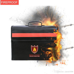 Wholesale Secruity Fireproof Bags Large Fireproof Water Resistant Document Bag Portable Safe Bag for Money Legal Documents Files Valuables Protection