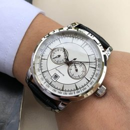 Top Designer Watches Men Australia - Top Sale Chronograph Luxury Watch Mens Designer Watches Leather Strap Automatic Mechanical Fashion Man Business Wristwatches Clock
