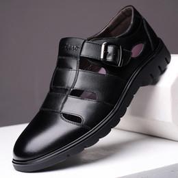 $enCountryForm.capitalKeyWord Australia - High Quality Men Sandals Genuine Leather Sandals Beach Shoes Roman Shoes Men Outdoor Casual Leather For Plus Size 48