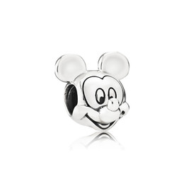 Pandora Bracelets Boxed UK - Jewelry accessories Cute little mouse portrait Beads Charms Original box for Pandora 925 Sterling Silver Charms Bracelet Making