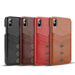 Iphone 5g Card Australia - PU leather Case For iphone 6 6s 7 8 plus X Xs MAX XR For Samsung Galaxy S10 5G S10E S9 plus Note 9 Card slot phone cover