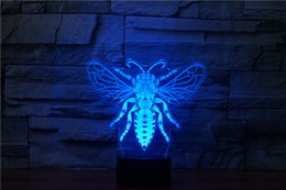 projector hid Australia - Honeybee 7 Color Changing Night Light Collectible Charizard 3d Led Table Desk Lamp Cartoon Figure Children's Bedside JK0086A