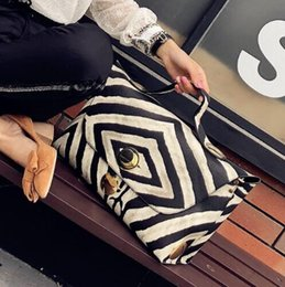 Zebra Chains Australia - 2019 Fashion Ladies Shoulder Bags Female Tote Bag Handbags Zebra Pattern Design Women Leather Handbags Casual Big Shopping Bags 56