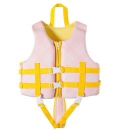 BaBy swim jacket online shopping - Professional Children Life Vest swim learning Jackets Inflatable Swimming Life Jacket Kids Baby Buoyancy Vest Safety