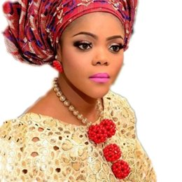 $enCountryForm.capitalKeyWord Australia - Gold & Red Coral Jewelry Sets Big Balls Nigerian Beads Necklace Jewelry Sets Indian Jewellery Sets Costume Choker Bridal Wedding