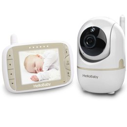 baby camera system 2019 - HelloBaby 3.2 Inch HB65 Video Baby Monitor with Remote Camera Pan-Tilt-Zoom, Two Way back system, Night shot Temperature