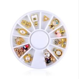 $enCountryForm.capitalKeyWord Australia - New 12pcs Box Nail Art Rhinestone Charm Butterfly Pearl Alloy Nail Crystal Decorations Wheel 3D Mix Designs Manicure Tools Gift 2019 Sale