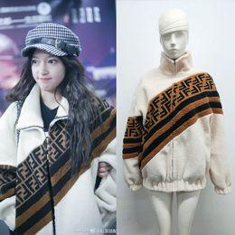 Fur collar jacket slim waist online shopping - Women Jackets coat Short Lamb Wool Couple Jacket Letter Mandarin Collar Zipper Pockets women clothing CNY1673