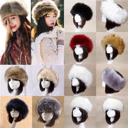 4c84a0583b1 Russian fuR hat women online shopping - Solid Faux Fur Russian Hat for  Women Winter Snow