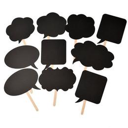 $enCountryForm.capitalKeyWord UK - 10pcs set Blanket Blackboard Photo Booth Props Paper Mask Party Decoration Masquerade Masks Kids Toys Christmas Event Decor