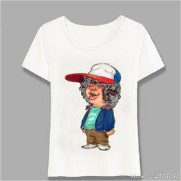 Tops Girl Shirt Design Australia - New Summer women's Short Sleeve Stranger Stole My Bicycle Horror T-Shirt Stranger Things Design Casual Tops Girl Tees Harajuku