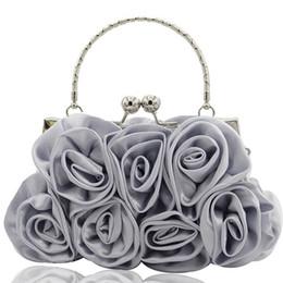 Satin Wedding Dresses Small Australia - Girls Shoulder Bag Satin Rose Pure Color Wedding Women Handbag Evening Lady Bags Dropship 2019 bolsa feminina sac a main #Zer