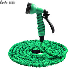 25ft Hose UK - Hot Selling 25FT-100FT Garden Hose Expandable Magic Flexible Water Hose EU Hose Plastic Hoses Pipe With Spray Gun To Watering