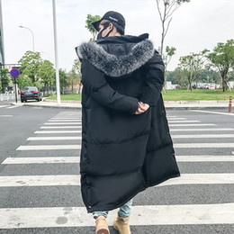 long warm parka mens 2019 - Mens Down Coats Polyester Winter Jackets Thick Casual Outerwear Windproof Handsome Warm Regular Parkas Coats Hooded jack