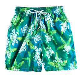 Green Swimsuits Australia - Mixed colors Green Turtle Printed Men's Beach Board Shorts Bermuda Mens Swimwear Board shorts Quick Dry Sports Boxer Trunks Shorts Swimsuits