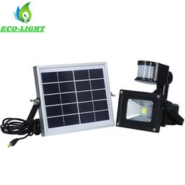 Wholesale 10W Rechargeable Solar Lamps Solar Powered LED Flood Light Outdoor Garden Projecting Landscape IP65 Lawn Lights