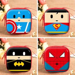 $enCountryForm.capitalKeyWord Australia - Superhero Cartoon Coin Purses Battman Captainn America Boys Key Case Wallets Children SpiderrMan Superrman Headset Bag Coin Bags